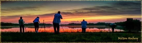 Sunrise at Nine Mile Pond by Milton Heiberg